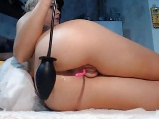 Sexy blond babe pig puffy pumped fat pussy lips big ass butt
