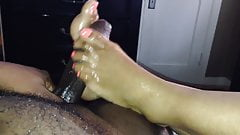 Ebony footjob