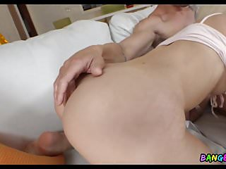 Tiny Blonde Teen takes a Deep Dick
