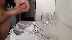 Cum on girlfriend's shoes