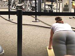 White booty exercising