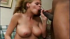 Mature gets creampied by a black cock