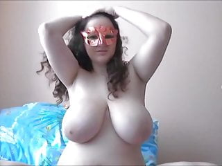 Angel huge boobed webcam babe part 3