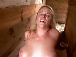 Dee Siren Takes On A Black Cock Outdoors