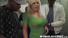 Luscious MILF has a special meeting with two black cocks
