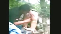 indonesia- jilbab hijab girl fucked by bf in a jungle