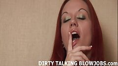 I dont even know if I can fit your big cock in my mouth JOI