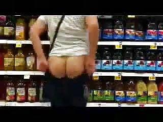 My Slut flashing at the store