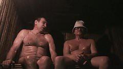 Russsians in sauna