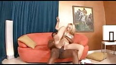 The Ultimate Blowjob? Hot Blonde Annette Schwartz Deepthroats a Huge Black Cock.elN