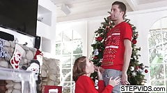 Riley Mae bangs her stepbro at xmas