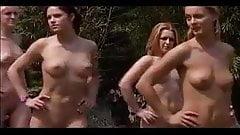naked athletic training workout girls