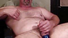Mature man wanking good again