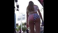 American Shorts Beauty Girl