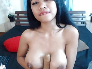 Asian girl Nicki Minaj with huge melons and squirting pussy