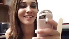 hot brunette sucks and fucks while she talks on the phone