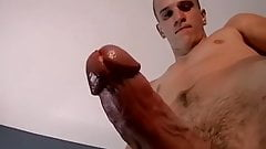 Amateur dick rider grabs his big cock and masturbates