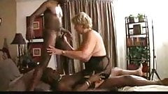 Mature Lady With 2 Blacks