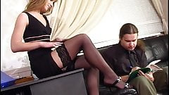 Stockings Office lust