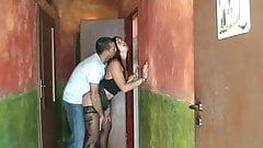 Cheating slut in the bar toilet