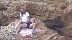 Beach Voyeur - Young couple playing (pt2)