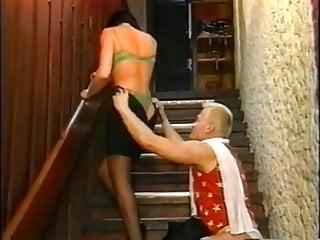 brunette fuck staircase