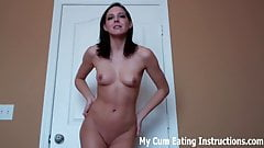 Eat up all your cum for me CEI