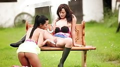 teen lesbians playing outside