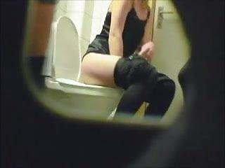 Blonde amateur teen toilet pussy ass hidden spy cam voyeur 6