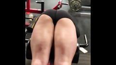HOT TEEN at the Gym in Spandex Shorts Bending Over!!