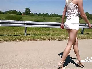 Incredible Legs In Short Dress