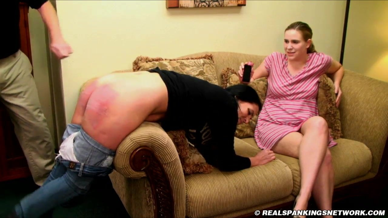 Spank sister mother knee jeans brush couch friends, hot girls jungel naked pic