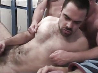 The locker room which smells of the cum