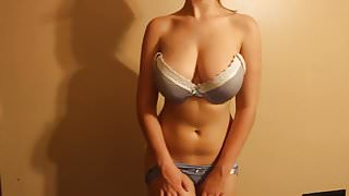 Horny Chick Strips Then Masturbates - 1