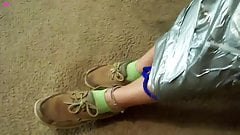 Veronica mummy bondage in saran wrap and duct tape Preview
