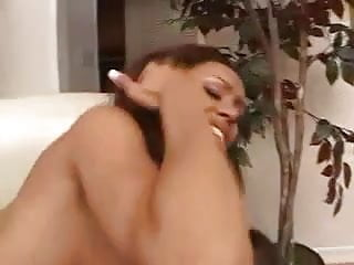 Ebony Girl Takes White Boy Creampie