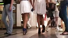 brilliant upskirt of two hot teens