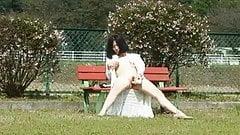 Masturbation in the park's