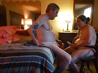 fucking my husbands man cunt ,my cock strapon & milking