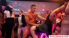 Sexparty amateurs facialized by strippers
