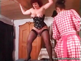 Iam Pierced slave getting her ass fister Pierced pussy