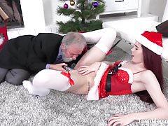 Teenmegaworld -old-n-young -masturbation under cristmas tree Thumbnail