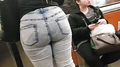 Big booty catched on street