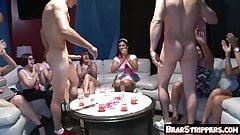 Bachelorette party sluts suck off stripper