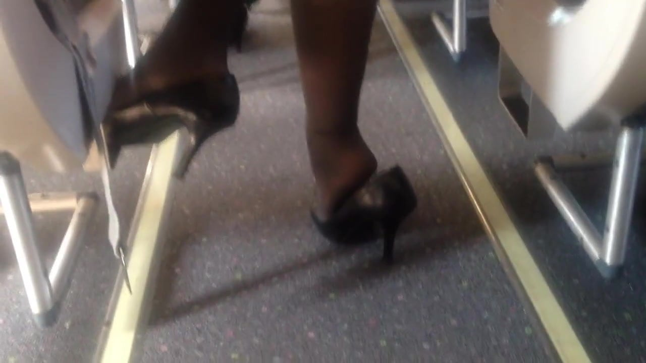 candid nylon shoeplay