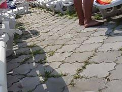 Spy pool sexy ass bikini woman romanian