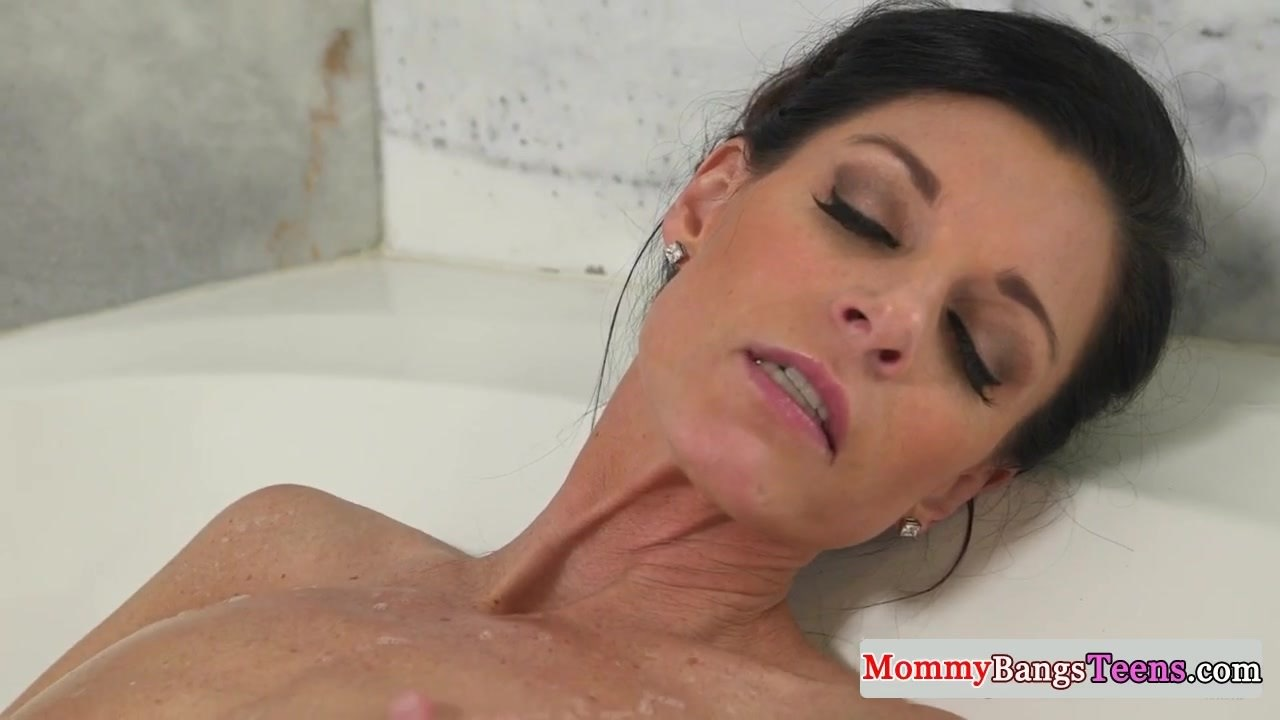 Stepmom caught masturbating