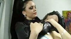 leather hitwoman