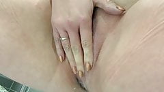 Wife fingering herself until she squirts