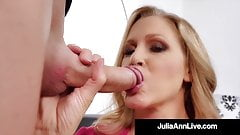 Sexy Mature Milf Julia Ann Face Fucks A Hard Cock!